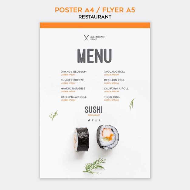 Restauracja Sushi Szablon Ulotki Darmowe Psd