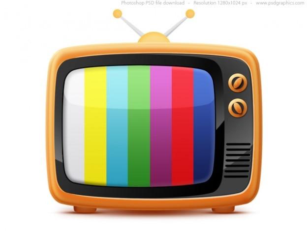 Retro tv ikony (psd) Darmowe Psd