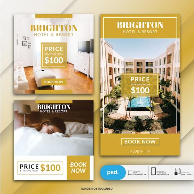 Rezerwacja Hotelu Szablon Transparent Premium Psd