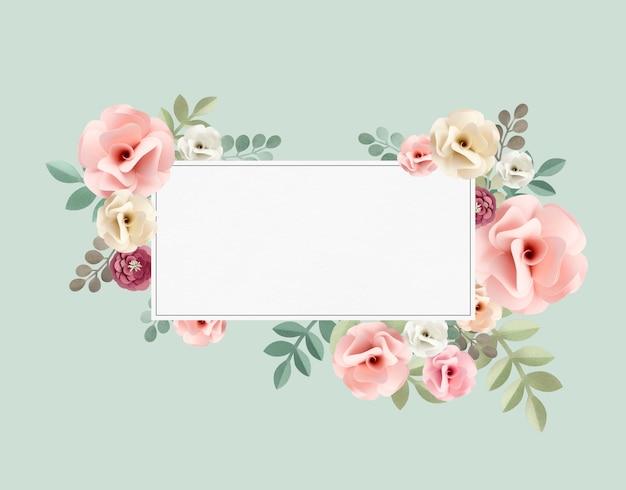 Róża wzór kwiatowy tekstura koncepcja Darmowe Psd