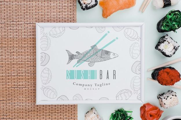 Rolki Sushi Z Makietą Ramy Premium Psd