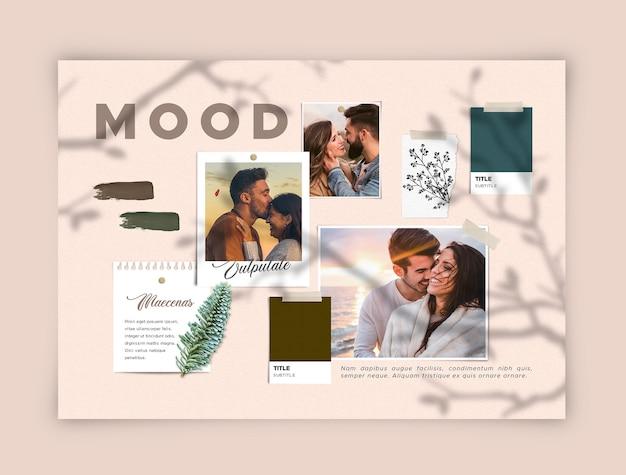 Romantyczna Młoda Para Moodboard Darmowe Psd