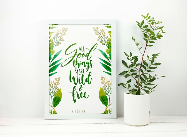Roślin Obok Makiety Ramki Darmowe Psd