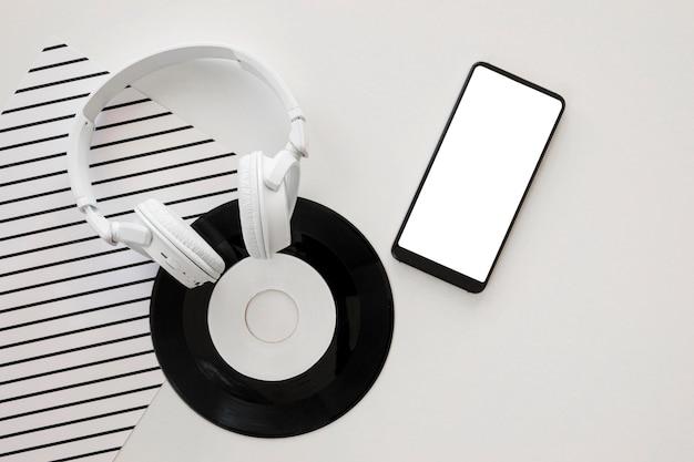 Rozmieszczenie Elementów Muzycznych Na Białym Tle Darmowe Psd