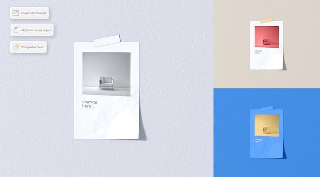 Różne Makiety Naklejek Papierowych Premium Psd