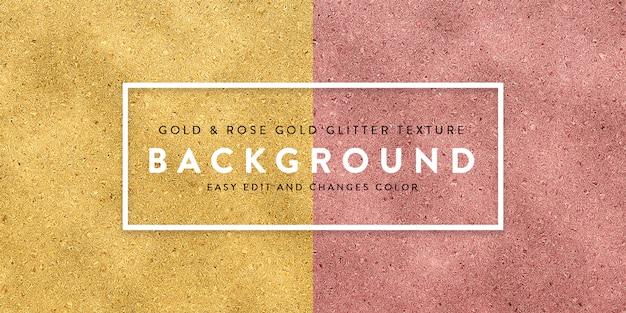Różowe złoto i złote tło Premium Psd