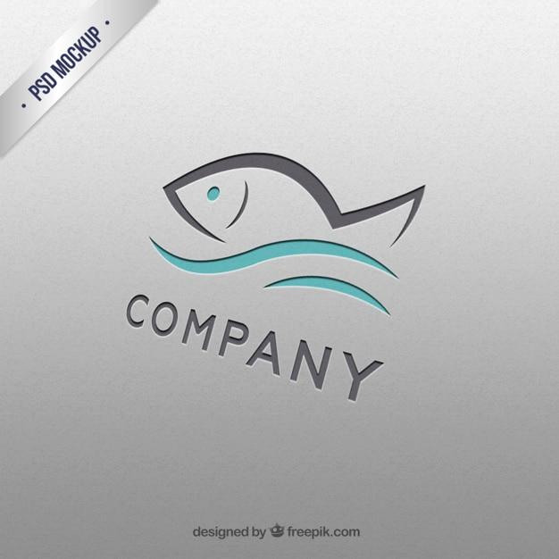 Ryby logo szablon Darmowe Psd