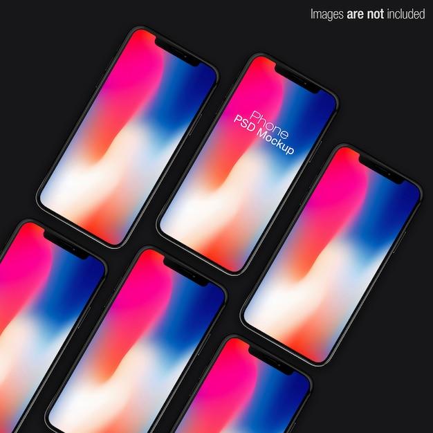 Scena makiety kolekcji pionowej iphone x psd Premium Psd