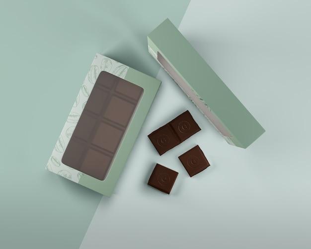 Schludne pudełko z czekoladowym wzorem Darmowe Psd