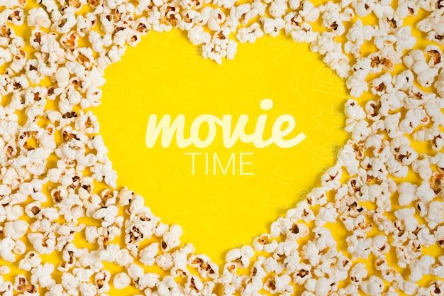 Serce Z Góry Wykonane Z Makiety Popcornu Darmowe Psd