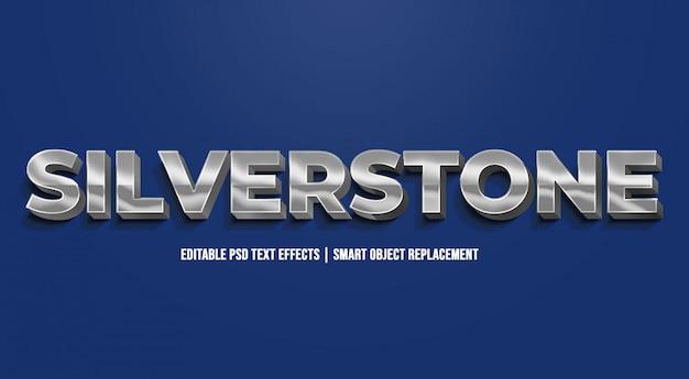 Silverstone - nowoczesne efekty gradientu tekstu Premium Psd