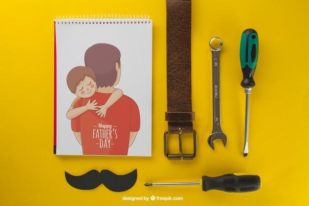 Skład Ojca Na żółtym Tle Darmowe Psd