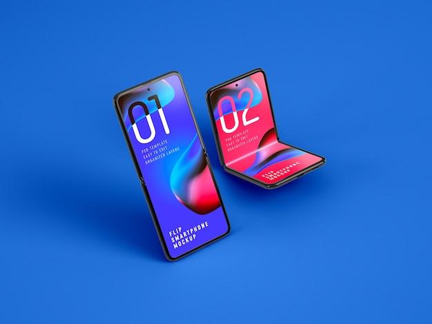 Składana Makieta Smartfona Premium Psd
