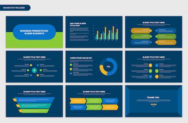 Slider Prezentacji Biznesowych Infographic Elementy Premium Psd