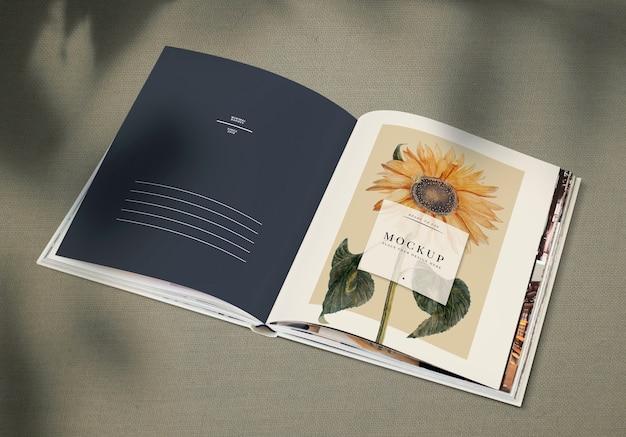 Słonecznik na makiecie magazynu Darmowe Psd