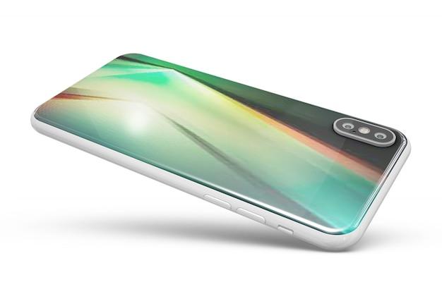 Smartphone skóry makieta na białym tle Darmowe Psd