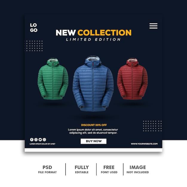Social Media Post Instagram Kwadratowy Baner Szablon Nowa Kolekcja Moda Premium Psd