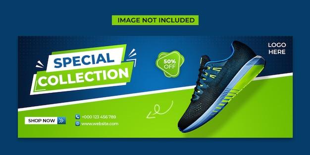 Specjalne Buty W Mediach Społecznościowych I Szablon Posta Na Facebooku Premium Psd