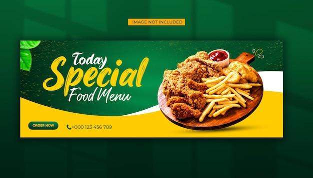 Specjalne Media Społecznościowe Menu żywności I Szablon Posta Na Facebooku Premium Psd