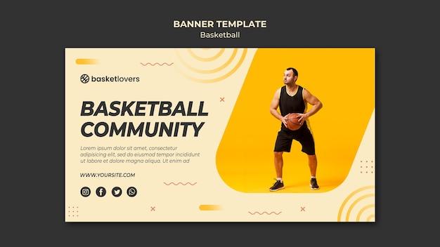 Społeczność Szablon Transparent Banner Koszykówki Darmowe Psd