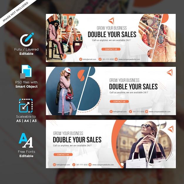 Sprzedaż Moda Kreatywny Szablon Dla Banerów Społecznościowych Z Lato Premium Psd