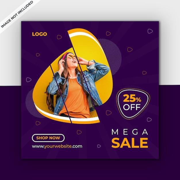 Sprzedaż szablonu mediów społecznościowych Premium Psd