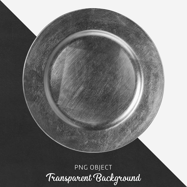 Srebrny Okrągły Talerz Usług Na Przezroczystym Tle Premium Psd