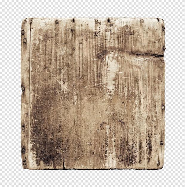 Stara Grunge Drewna Deska Odizolowywająca Na Bielu Premium Psd
