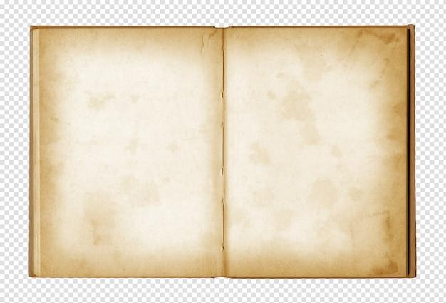 Stary Grunge Otwarty Notatnik Premium Psd