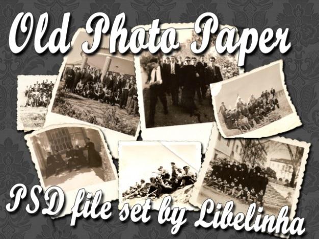 Stary zestaw obraz papier Darmowe Psd