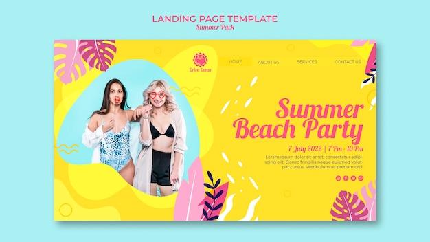 Strona Docelowa Letniej Imprezy Na Plaży Darmowe Psd