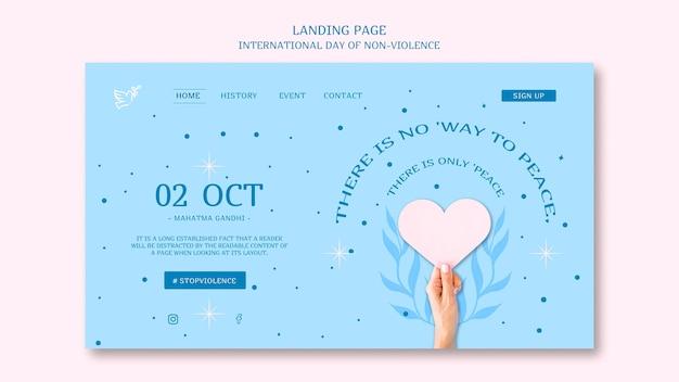 Strona Docelowa Międzynarodowego Dnia Bez Przemocy Darmowe Psd