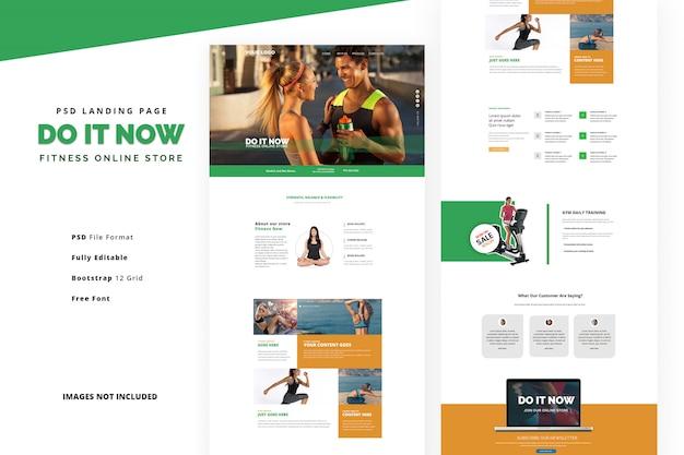 Strona Docelowa Pielęgnacji Ciała Do ćwiczeń Na Siłowni I Zajęć Fitness Premium Psd