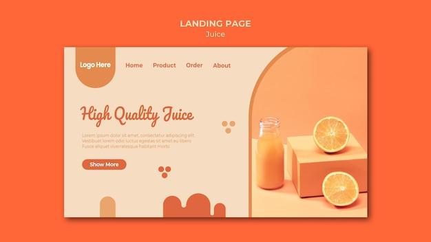 Strona Docelowa Soku Pomarańczowego Darmowe Psd