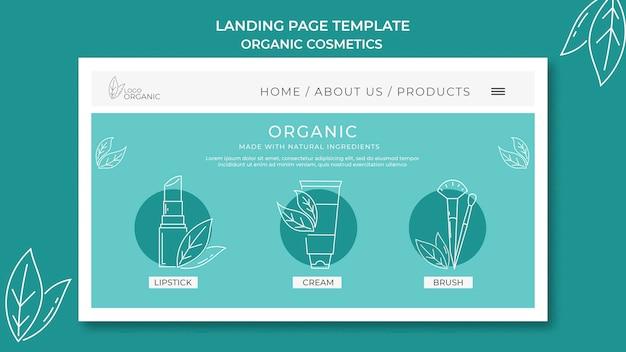 Strona Docelowa Szablonu Kosmetyków Organicznych Premium Psd