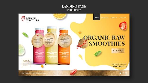 Strona Docelowa Szablonu Organicznych Koktajli Darmowe Psd