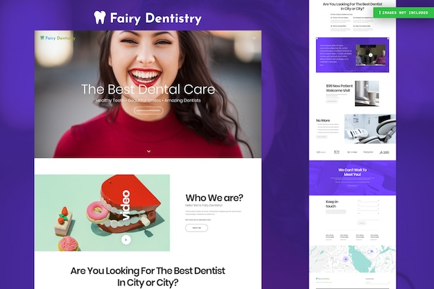 Strona internetowa dentysty Premium Psd