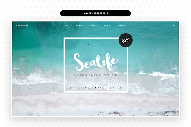 Strona Internetowa Sealife Premium Psd