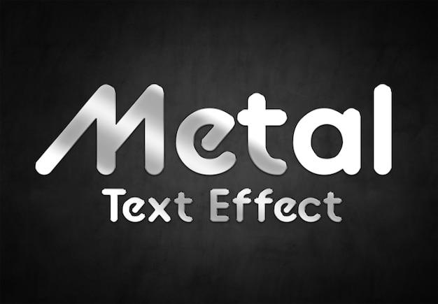 Styl Efektu Metalowego Tekstu Premium Psd