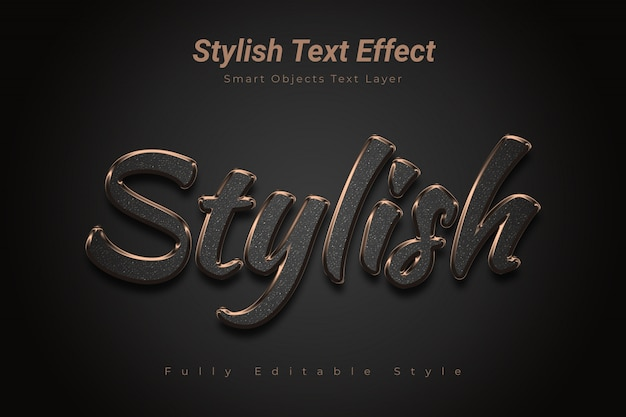 Stylowy Efekt Tekstowy Premium Psd