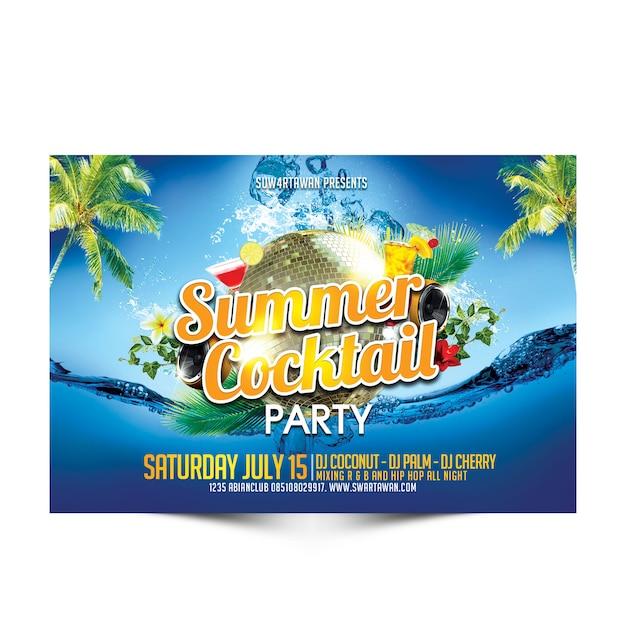 Summer cocktail party Premium Psd