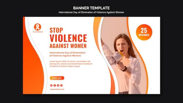 Świadomość Przemocy Wobec Kobiet Szablon Transparent Ze Zdjęciem Darmowe Psd