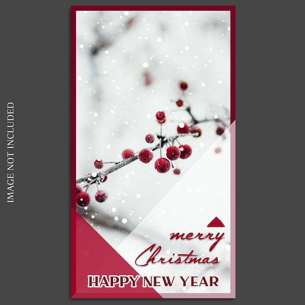 Świąteczne i szczęśliwego nowego roku 2019 makieta zdjęć i szablon na instagramie Premium Psd