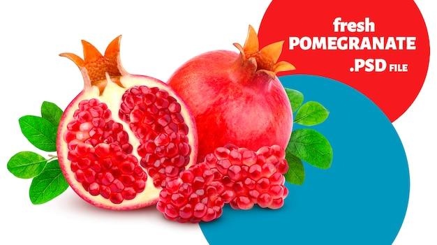 Świeże Granaty Premium Psd