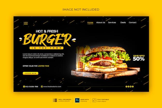 Szablon Baneru Fast Food Lub Burger Premium Psd