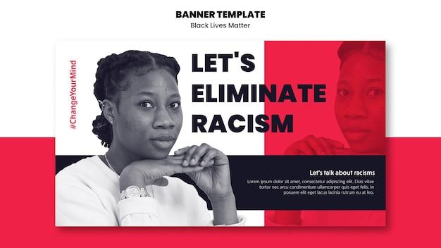 Szablon Banner Na Rasizm I Przemoc Darmowe Psd