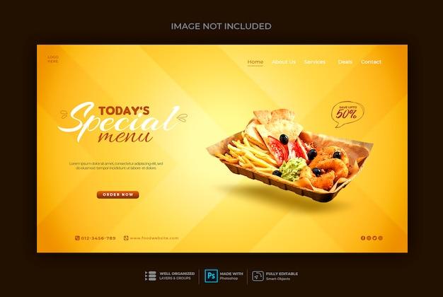 Szablon Banner Sieci Web Fast Food Lub Restauracji Premium Psd