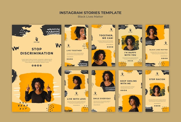 Szablon Black Story Instagram Story Darmowe Psd