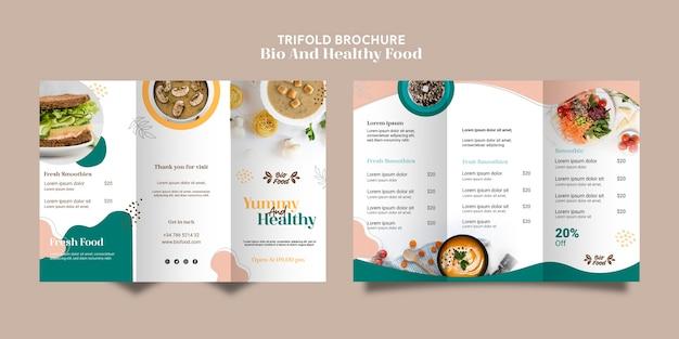 Szablon Broszura Ze Zdrową żywnością Darmowe Psd