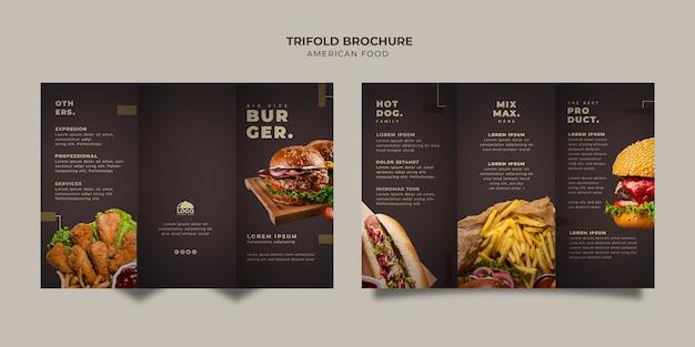 Szablon Broszury Potrójnego Burgera Darmowe Psd